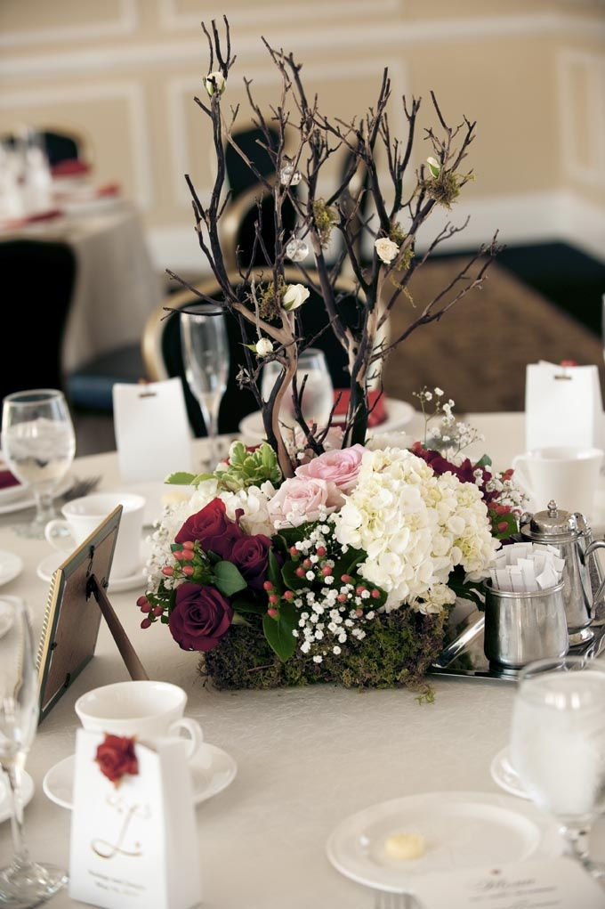 77 best images about reception styling inspiration on for Twig centerpieces for weddings