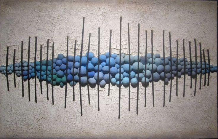 """""""Legàmi"""" (Blu) cm 159 x 102 Tecnica: polimaterica"""