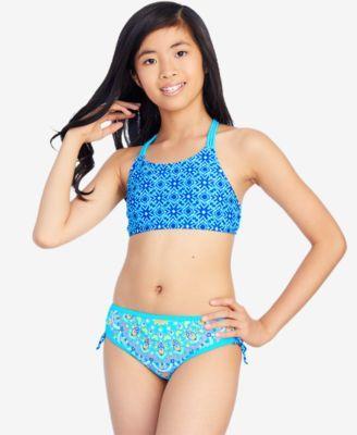 3a9ee43df7537 Breaking Waves 2-Pc. Mixed-Print Bikini