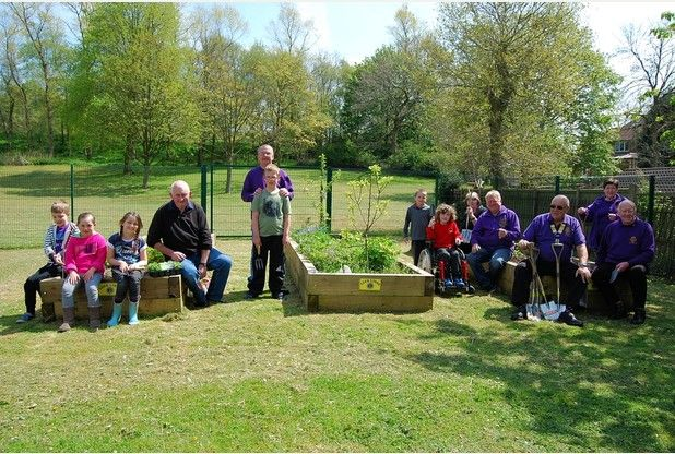 Leek Lions donate gardening tools to help youngsters at Springfield Special School in Leek.