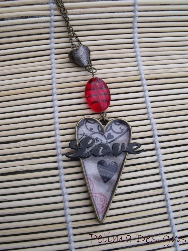 Love embellished necklace
