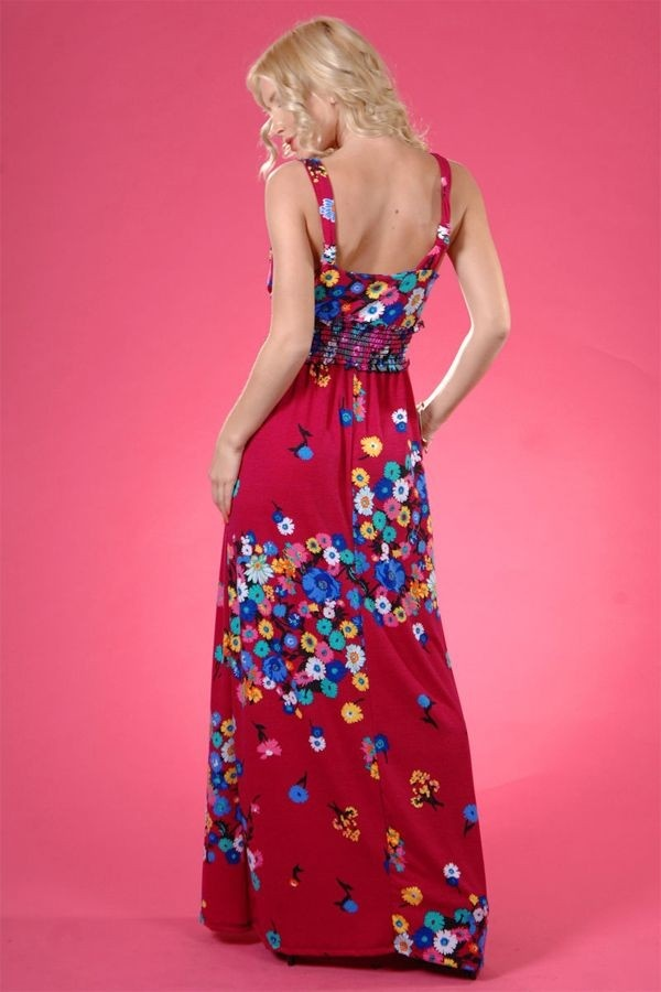 #Pretty floral maxi!  Fringe Dress #2dayslook #FringeDress  #susan257892 #watsonlucy723  www.2dayslook.com