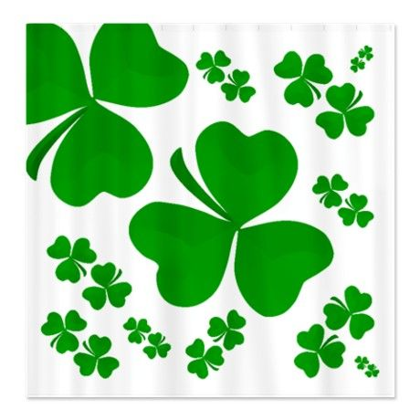 Shamrocks Explosion Shower Curtain #circusvalley