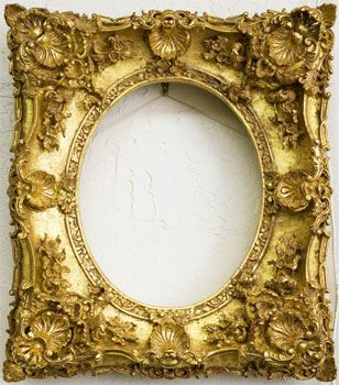 Some frames are stunning all by themselves ~ nothing inside required.  I love this one. @ David Charles, for Fine Art Registry®