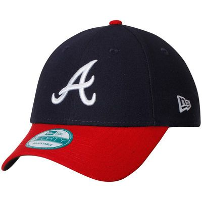 Men's New Era Navy/Red Atlanta Braves Home Turner Field The League 9FORTY Adjustable Hat