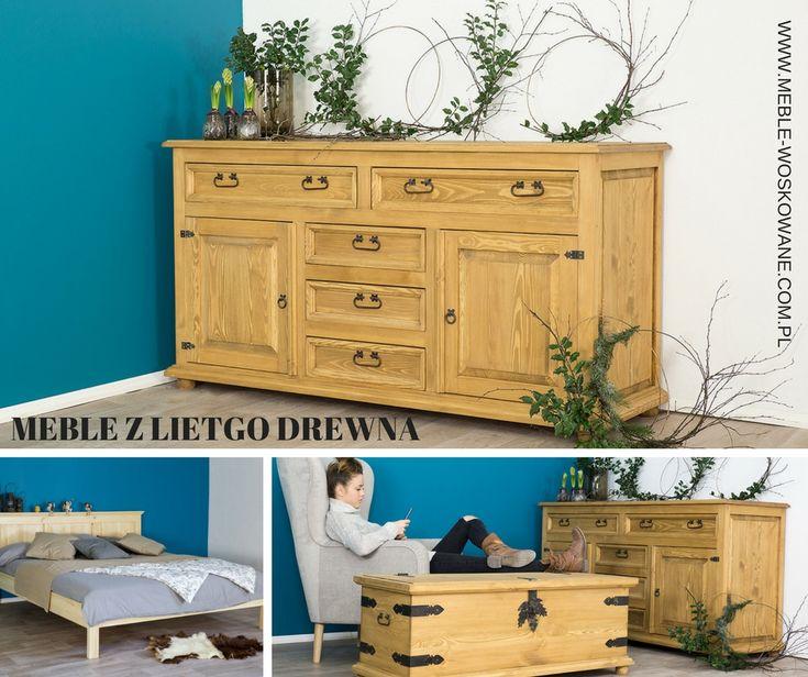 Meble drewniane, wykonane z litego drewna sosnowego. Urządź swoją sypialnie w stylu rustykalnym
