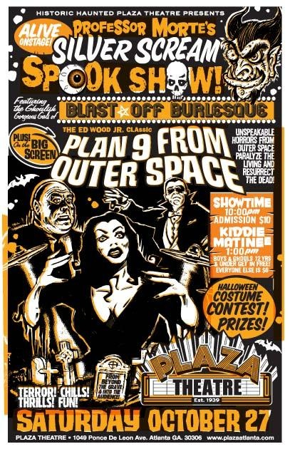 Halloween Spook Show, featuring Ed Wood's Plan 9 From Outer Space. horrorkid.com