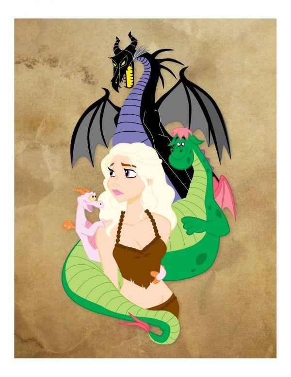 Daenerys Targaryen:  Mother of (Disney) Dragons