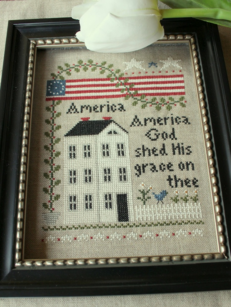 Little House Needleworks, America  (been in my stash for years, need to stitch it up!)