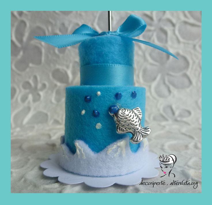 Sea theme felt mini cake