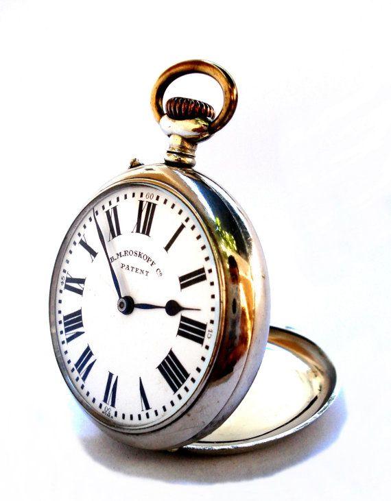 Antiguo Reloj Bolsillo Suizo B. M. ROSKOPF Co. por shopvintage1