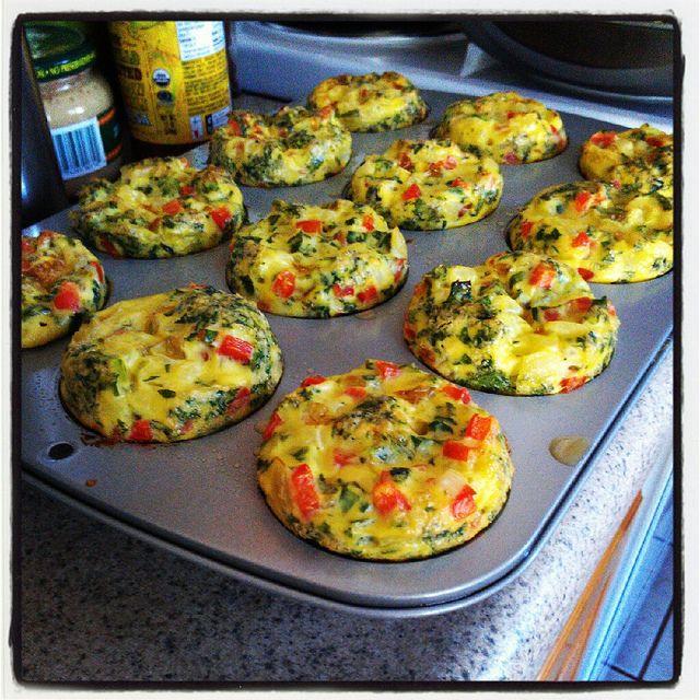 crustless breakfast mini-quiches