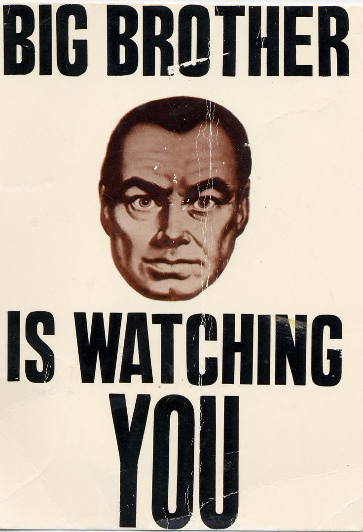 "Poster from ""1984"", the 1956 film loosely based on the novel of the same name by George Orwell."