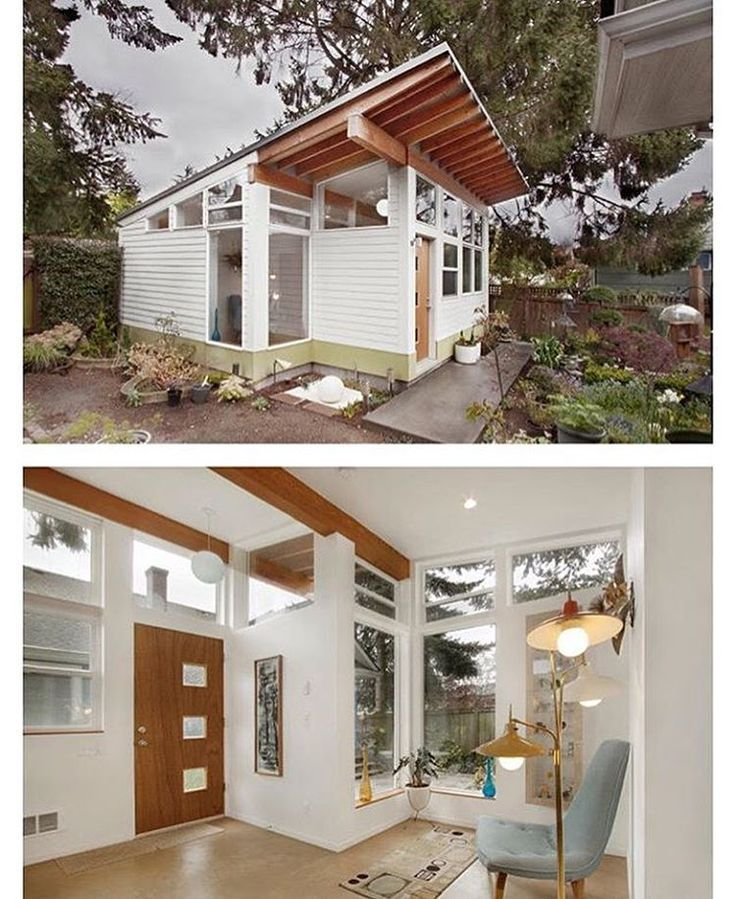 """The """"Orchid Studio designed and built by #Seattle based First Lamp Architects @firstlamparchitects #interiors #interiordesign #architecture #decoration #interior #home #design #camper #bookofcabins #homedecor #decoration #decor #prefab #diy #campervan #compactliving #fineinteriors #cabin #shed #tinyhomes #tinyhouse #cabinfever #FABprefab #tinyhousemovement #airstream #treehouse #cabinlife #cottage"""