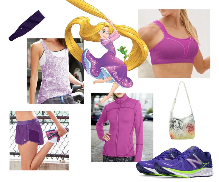 Tangled-inspired fitness fashion for your next workout. Rock Rapunzel's signature look at a marathon or gym. | [ http://blogs.disney.com/disney-style/fashion/2016/02/20/looks-from-the-disney-princess-half-marathon/ ]