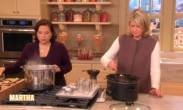 Martha Stewart uses unsalted butter to mix up a batch of shortbread cookies dipped in chocolate.