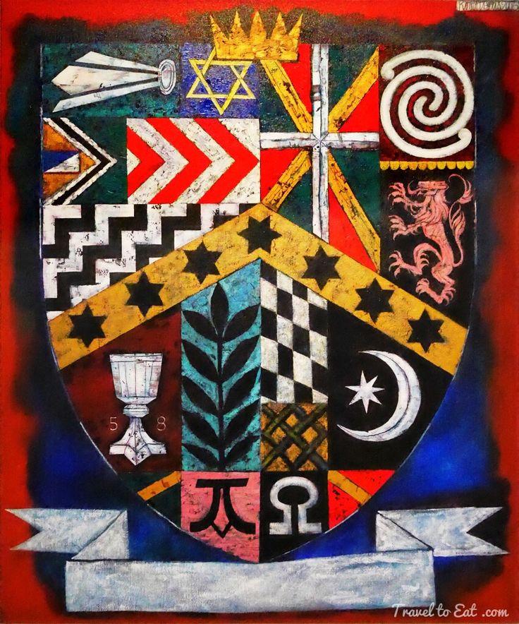 Shield by Robert Ellis. Auckland Art Gallery, New Zealand