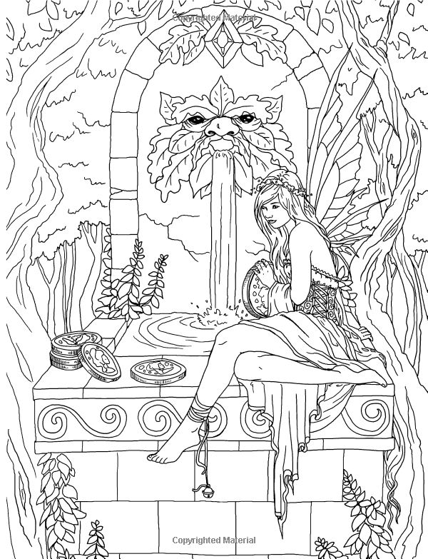 fairy with bell coloring page see more artist selina fenech fantasy myth mythical mystical legend elf elves dragon - Coloring Pages Dragons Fairies