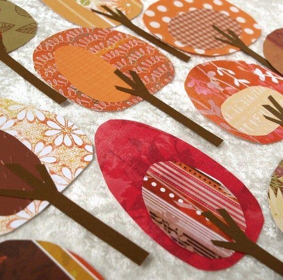 Árboles de papel colección de fresco día de por psitsinthedetails                                                                                                                                                                                 Más