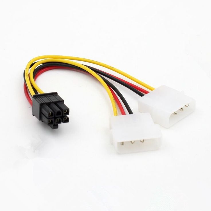 2 IDE Dual 4 Pin Molex IDE Male to 6 Pin Female PCI-E Y Molex IDE Power Cable Adapter Connector For Video Cards F642D   Read more at Electronic Pro Market : http://www.etproma.com/products/2-ide-dual-4-pin-molex-ide-male-to-6-pin-female-pci-e-y-molex-ide-power-cable-adapter-connector-for-video-cards-f642d/  	 	 	Description	100% new high quality.	 PCI-E 6-pin to 2-Molex IDE Power Y-Adapter Cable	 The 6-pin adapter calbe converts two 4 pin molex connectors to one 6 pin PCI