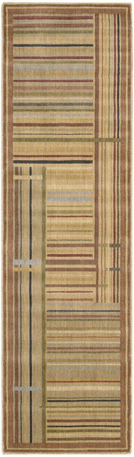 Nourison Somerset (ST17) Multicolor Rectangle Area Rug, 3-Feet 6-Inches by 5-Feet 6-Inches (3'6' x 5'6') ** Final call for this special discount  : Area Rugs, Runners Pads