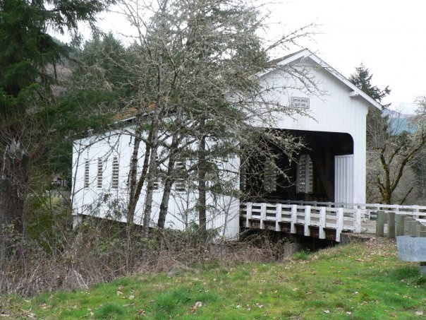 One of several covered bridges in Cottage Grove, Or,  Covered Bridge Capital of the world