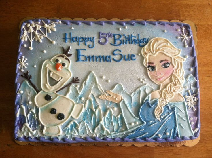 Frozen Birthday Sheet Cake Ideas Frozen sheet cake