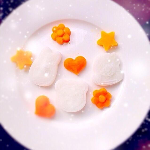 人参ペースト かぼちゃ 10倍粥 - 3件のもぐもぐ - 離乳食初期Xmas仕様✧ by luvagatsuma