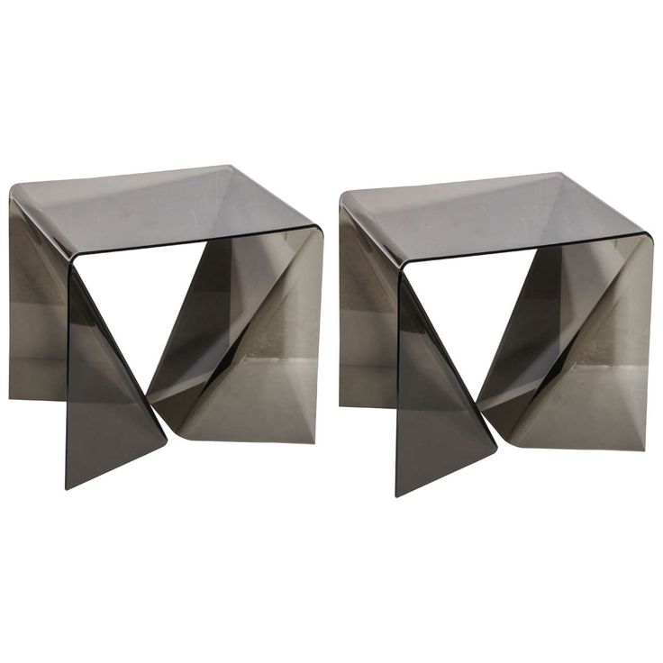 "pair of Neal Small ""Origami"" Tables 