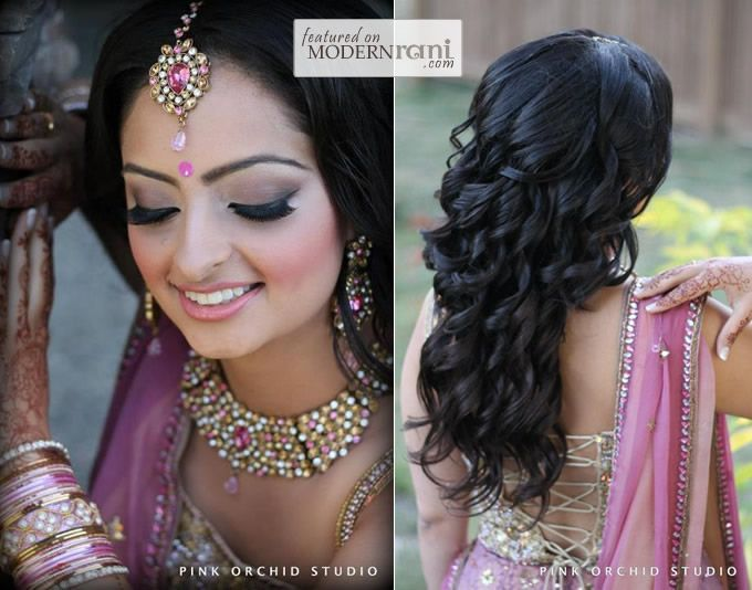 indian wedding hair style pink orchid studio bridal hairstyles part two 2299