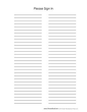 Printable Sign Up Sheet   Bing Images  Free Printable Sign In Sheets