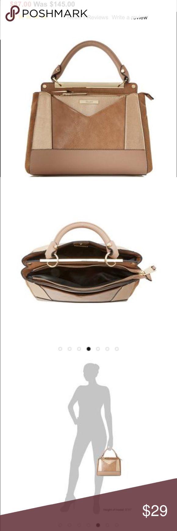 Dune London Tan Structured Handbag New w/out tags... Tan, two zip closure structured Handbag Bags Crossbody Bags