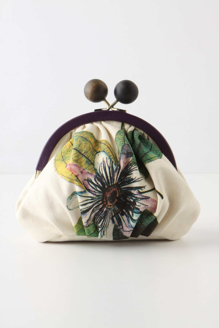 Cute Gift: Encyclopedia Sketch Coinpurse from Anthropologie I use a larger version for my iPod ...