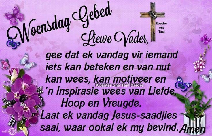 Woensdag gebed