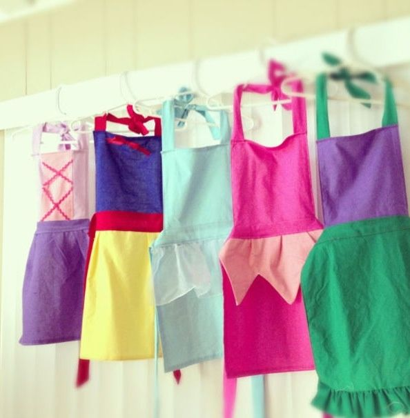 Princess Aprons- much more simple version
