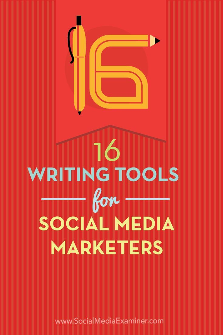 Do you create copy for social media posts?  Whether you work on your own or with a team, there are tools that make it more likely your social media posts will publish without errors and with correct word counts.  In this article you'll discover 16 writing tools for social media marketers. Via /smexaminer/.
