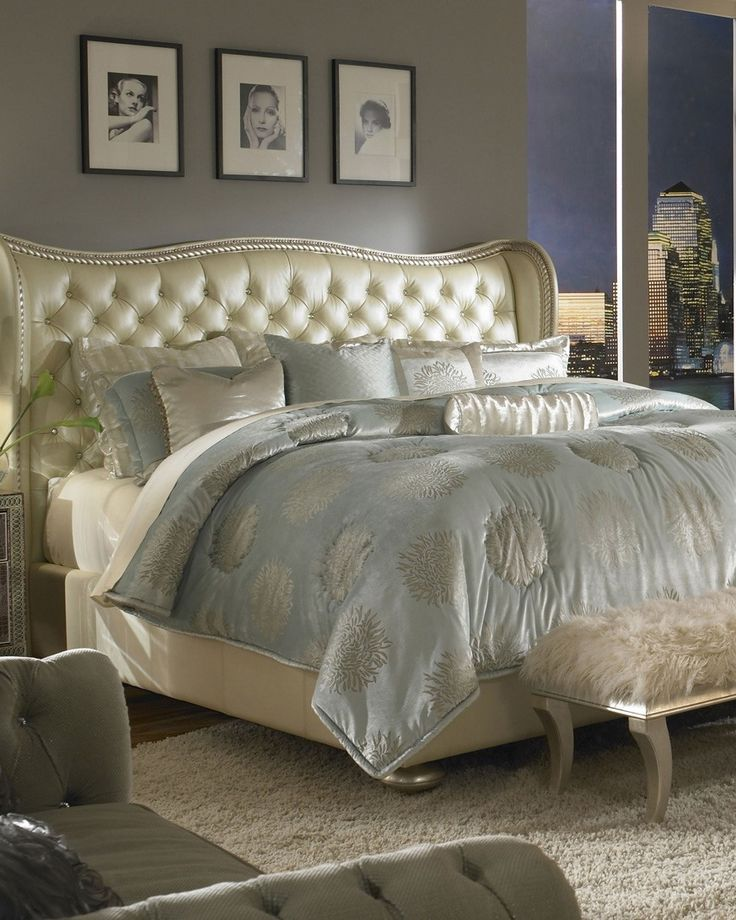 Beatrice Four Piece Queen Bedroom Set Pearl Finish Huffman