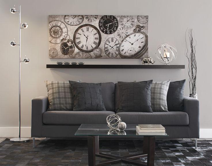 Charcoal Living Room Decor