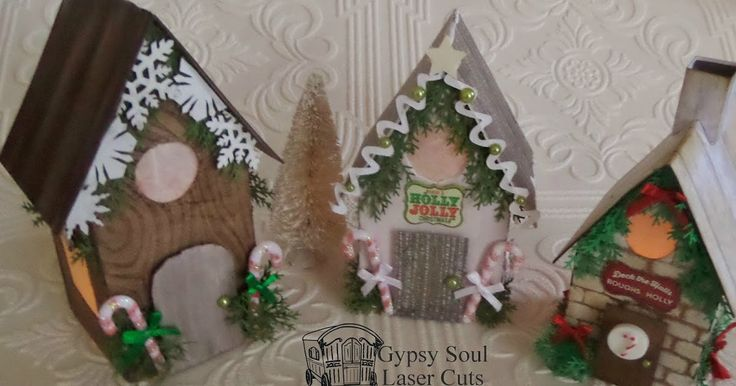 Hello, today I made a trio of Christmas decorated houses using the Cabana Row House Set and the Snowflake Shape Set .             For t...