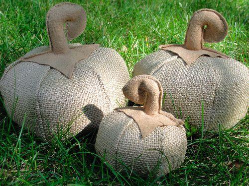 burlap crafts ideas | Someday Crafts: Burlap Pumpkins Pattern