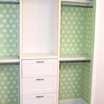 DIY Closet Organization {Closets} but with a shoe rack in the middle instead of empty space