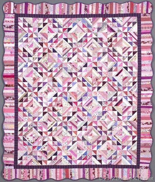 """Zuckerwatte (Cotton Candy) 60""""x 72"""" by Bonnie Hunter"""