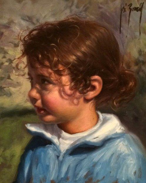 Jose Borrell_Innocence III_Oils_10x8.25   Contemporary Art