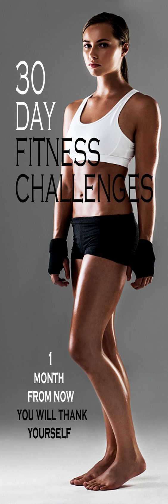 Free, printable & easy to follow 30 day fitness CHALLENGES. Pick one of the total body workout plans (fat burn, summer body, running challenges) or target your trouble zones (muffin top, abs, core, thighs, arms, glutes…) Get fitter, leaner and stronger in just one month!