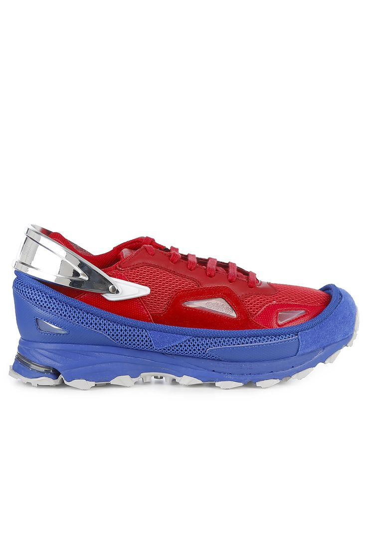 Chaussures De Sport Pour Les Hommes En Vente, Ozweego, Rouge Raf Simons, Tissu, 2017, 40 Adidas