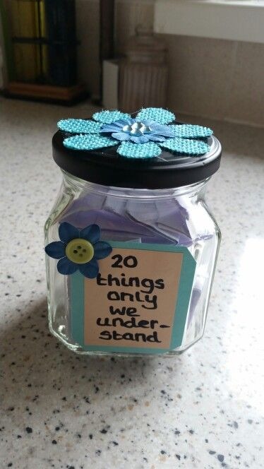 DIY jar gift. For best friend/ sister/ partner. Personalised, thoughtful gift idea.                                                                                                                                                                                 More