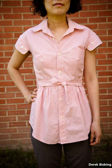 Picnic blouse (refashioned men's shirt) – Sewing Projects | BurdaStyle.com