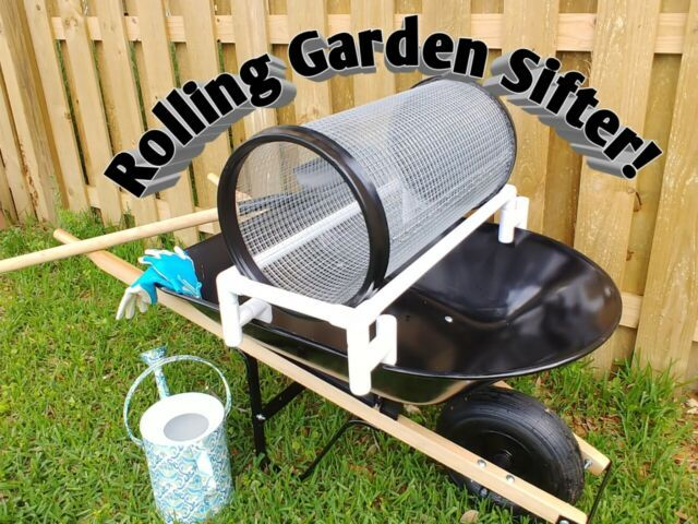 Garden Rolling Sifter No Bending Fast Easy No Shaking Or