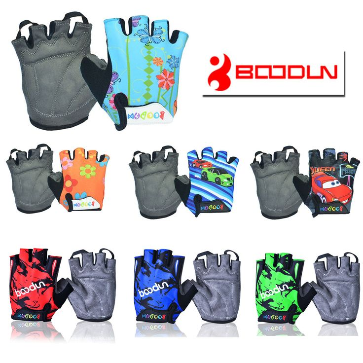 CHILDREN KIDS PADDED CYCLING BICYCLE BIKE CYCLING BMX GLOVES RACING RIDING M/ L