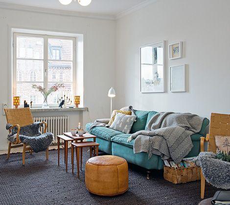 Binnenkijken in een appartementje in scandinavische stijl